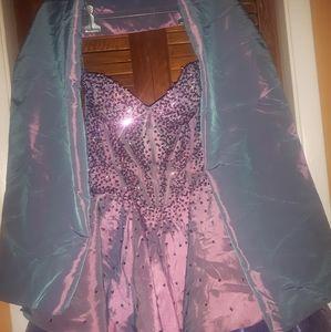 Purple Dress & Shawl Size 4